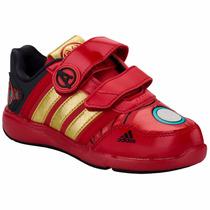 Tenis Marvel Avengers Iron Man Velcro Niño Adidas B23896