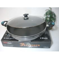 Aluminio Con Teflon Arrocera 36 Cms Con Teflon Y Tapa De Cri