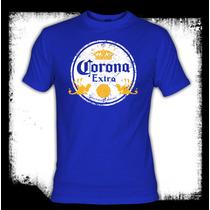 Corona - Logo Vintage Cerveza Camiseta Playera