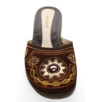Zapatos Zuecos Flats Marca Andrea Cafe No. 4.5 Nuevos