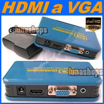 A11 Convertidor Hdmi A Vga Y 3.5mm Audio Y Video Alta Definc