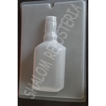 *molde Mediano Gelatina Yeso Botella Licor M1 Whisky Ron*