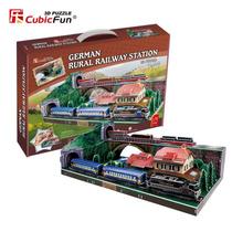 Estación De Tren Aleman Rompecabezas 3d Cubicfun 111 Piezas