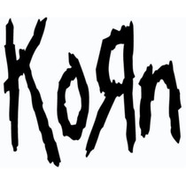 Set 2 Stickers Vinil Autoadherible Korn Logo 13 X 16 Cm