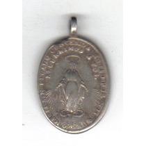 Medalla México Colonial 1700 ´s Plata Virgen María - Hm4