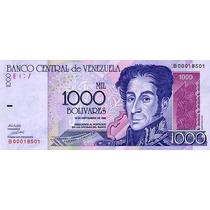 Grr-billete De Venezuela 1000 Bolívares 1998 - Simón Bolívar