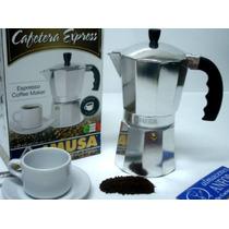 Aluminio Cafetera Express Fuego Directo 9 Tazas Mod.: Modern