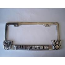 Transformers Autobots Decepticons Portaplaca Metalico