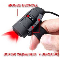 Mini Mouse Usb Para Dedo Optico Reduce Fatiga Led Mac Raton