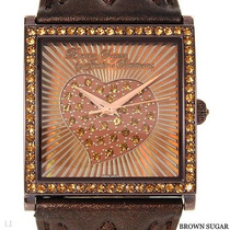 Reloj Brown Sugar By Justine, Correas Piel Y Piedreria
