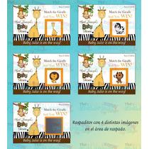 Juegos De Raspadito Safari Para Baby Shower-baby Shower