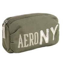 Aeropostale Cosmetiquera Solid Aero Ny Logo Makeup Case Verd