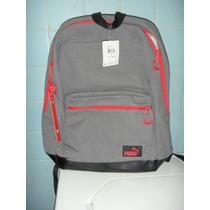 Mochila Puma Backpack Gris Original Pm0