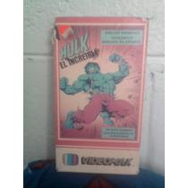 Vhs Hulk El Hombre Increible Spiderman Español Marvel Comic