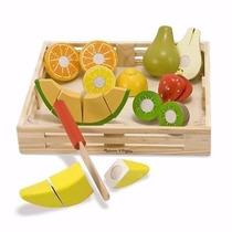 Juguete Juego Frutas Madera Niños Melissa & Doug C/ Cuchillo