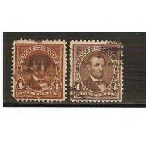 1895-98 Estados Unidos Lincoln 4 Centavos Dif. Tono Usado