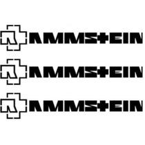 Set 3 Stickers Vinil Autoadherible Rammstein Logo (26 X 5cm)