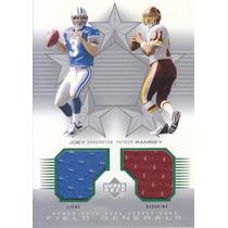 2002 Upper Deck Honor Roll Jerseys Harrington Ramsey Qbs