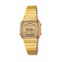 Reloj Casio Dama La670 Dorado Extensible Metal Cronometro