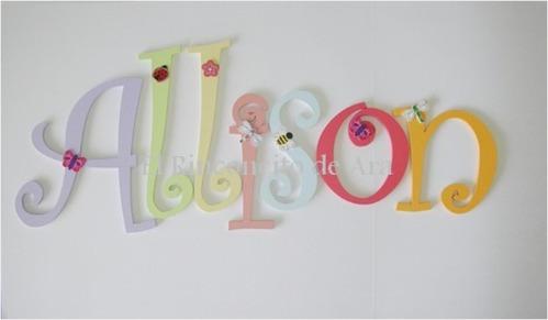 Hermosas letras para decorar la habitacion de tu bebe - Letras para adornar ...