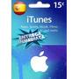 Tarjeta Gift Card Itunes Espa�a 15 Euros Ipod Ipad Iphone