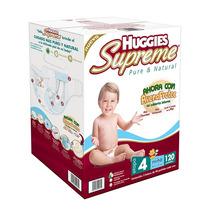 Pañales Huggie Supreme Etapa 4 120 Piezas Niño Y Niña