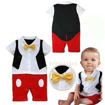 Stylesilove Bebé 3d Bowtie Mickey Mouse Inspirado Vestuario