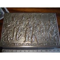 Caja Alhajero O Metal Plata Guerra Tambor Fusil