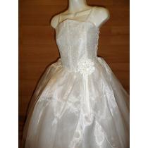 Elegante Moderno Vestido 1a Comunion Confirmacion 10-12 Años