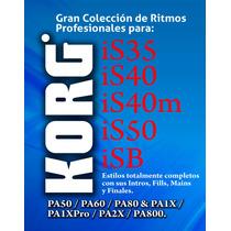 Gran Colección De Ritmos Korg Is35, Is40, Is40m, Is50, Is50b