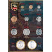 Coleccionador De Monedas De 70 & 80s Completo Con Monedas