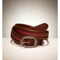 American Eagle Outfitters Cinturon De Piel Cafe Rosa Idd