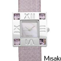 Reloj Misaki Damas, Madre Perla, Cristales Y Piel Sp0