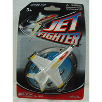 Realtoy Avion De Combate No 5 Blanco De Metal