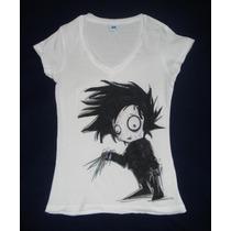 Blusa Camiseta De Edward Joven Manos De Tijera