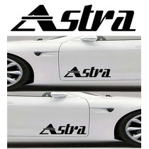 Set 2 Stickers Astra Logo Tuning Vinil Automovil Deco