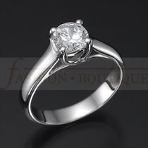 Anillo Compromiso Diamante Natural .23 (puntos) Oro14 Kt-dmm