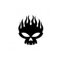 Sticker Vinil Autoadherible The Offspring Skull (15 X 15 Cm)
