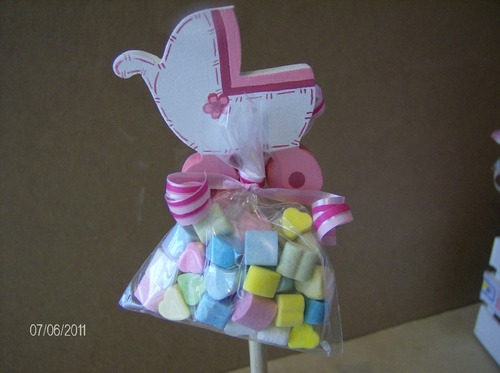 De Mesa Para Baby Shower En Madera De Cigueña Hwo (Baby´s Showers