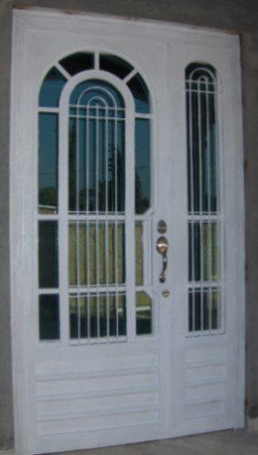 Puerta arclasic de herreria rustica fina for Puertas galvanizadas