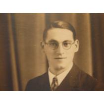 1920 Fotografia Antigua Guapo Joven Intelectual