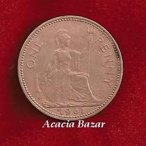 Moneda Inglaterra One Penny 1961