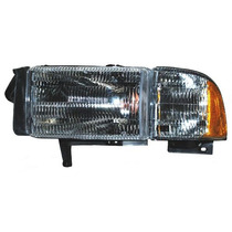 Faro Dodge Pick Up 94-02 Ram C/base C/cuarto Ald Tyc Izq
