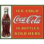 Poster Metalico Litografia Lamina Coca Cola Sold Here