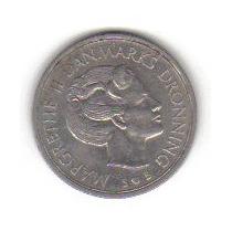 1 Corona 1975 Moneda Dinamarca Reina Margarita Il - Hm4