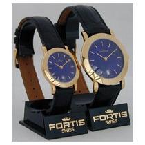 2 Relojes Swiss Fortis 5610.36.35&5609.36.35 -dama&caballero