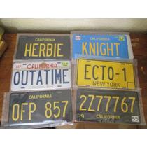 Placas Autos Famosos. Knight, Delorean, Ecto. 1:1 Lamina