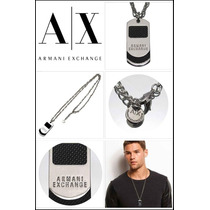 Collar Cadena Dije Cruz Hombre Armani Exchange A/x Original