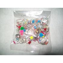 Gcg Lote Mini Anillos Metal Figuras Para Chicleras 100 Pzas