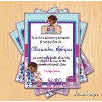 Invitacion Digital Imprimible Doctora Juguetes Cumpleaños